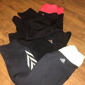 Set of 3 medium Adidas capris